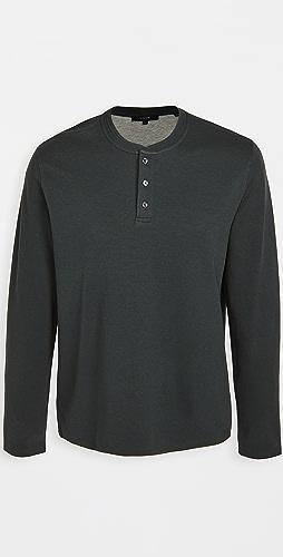 Vince - Long Sleeve Double Knit Henley Shirt