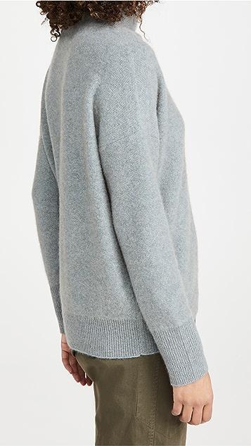 Vince Boiled Funnel Neck Cashmere Pullover