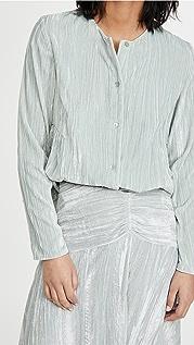 Vince 皱折拼接女式衬衫