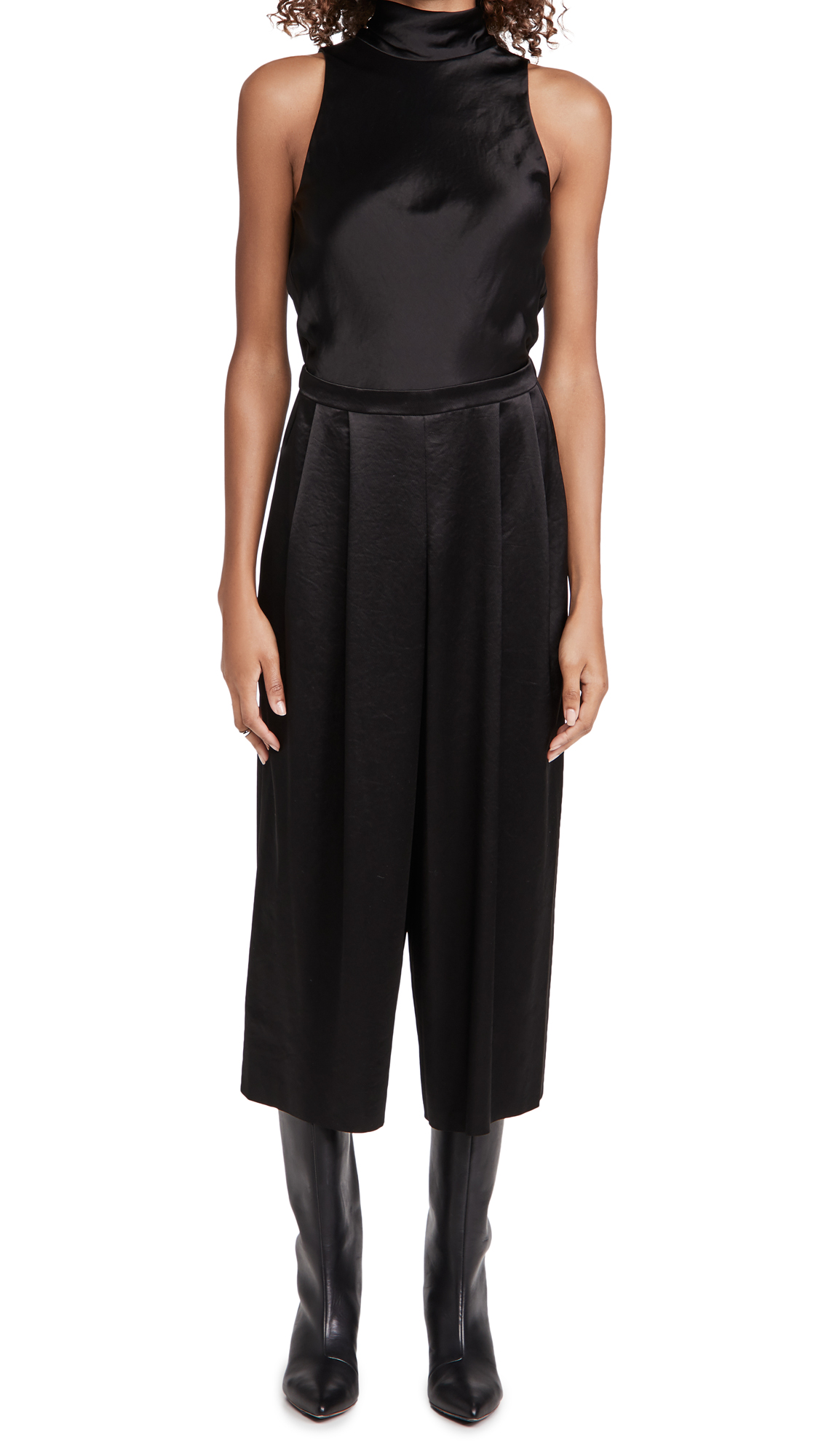 Vince TURTLENECK TIE JUMPSUIT