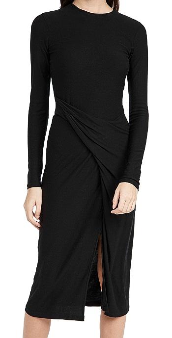 Vince Draped Dress - Black