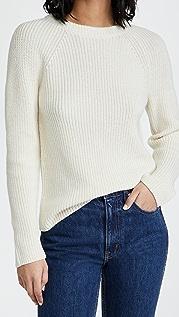 Vince Ribbed Raglan Crew Sweater