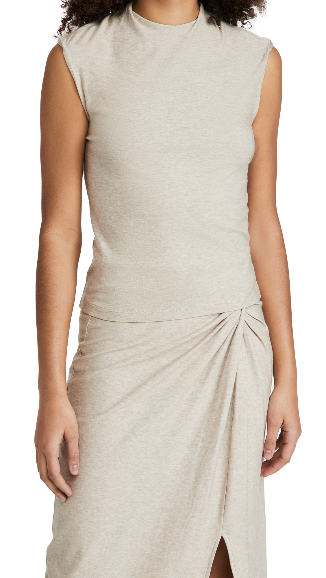 Vince Tops DRAPED NECK SHELL TOP