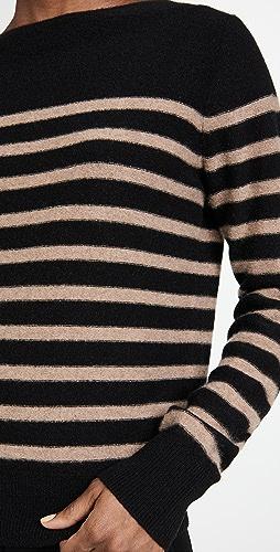 Vince - Breton Striped Boat Neck Sweater