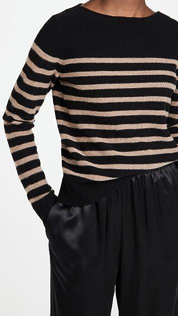 Vince Breton Striped Boat Neck Sweater