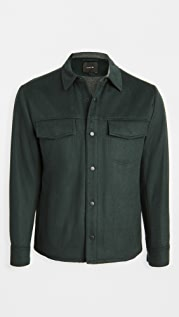 Vince Long Sleeve Quilted Overshirt