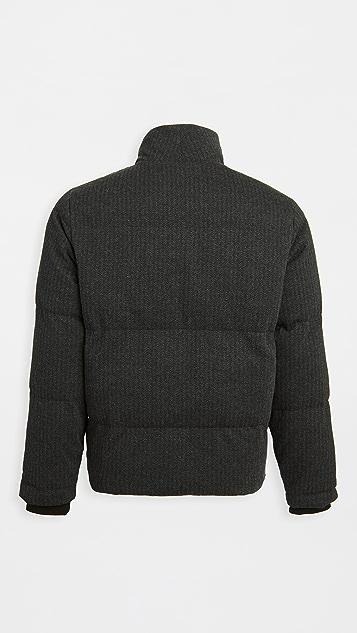 Vince Herringbone Puffer Jacket