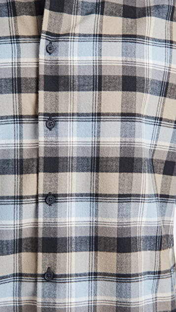 Vince Soft Plaid Shirt