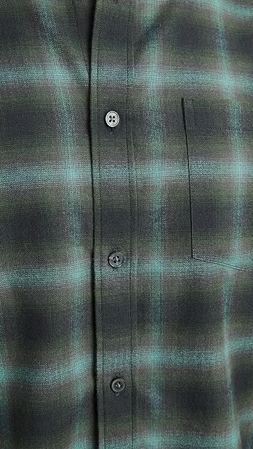 Vince Multi Shadow Plaid Shirt