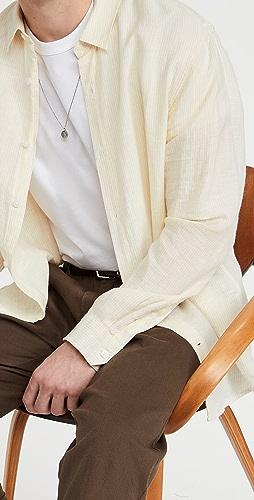 Vince - Linen Stripe Button Down