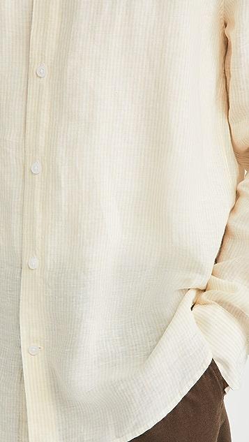 Vince Linen Stripe Button Down