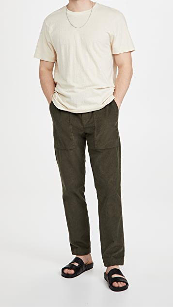 Vince Micro Cord Pull On Pants