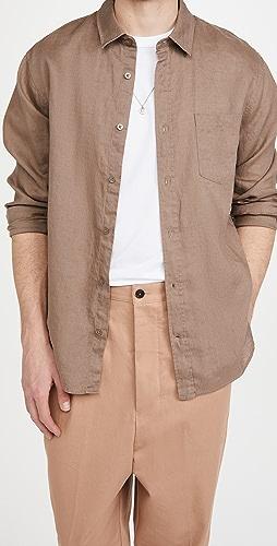 Vince - Linen Long Sleeve Shirt