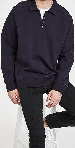 Vince - French Terry Quarter Zip Sweatshirt