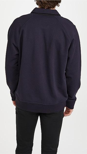 Vince French Terry Quarter Zip Sweatshirt