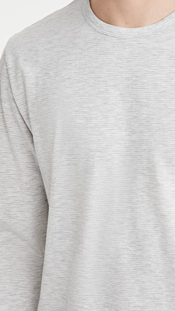 Vince Slub Feeder Stripe Crew Shirt