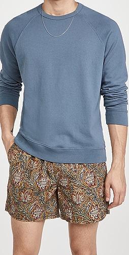 Vince - Long Sleeve Garment Dye Crew Sweatshirt
