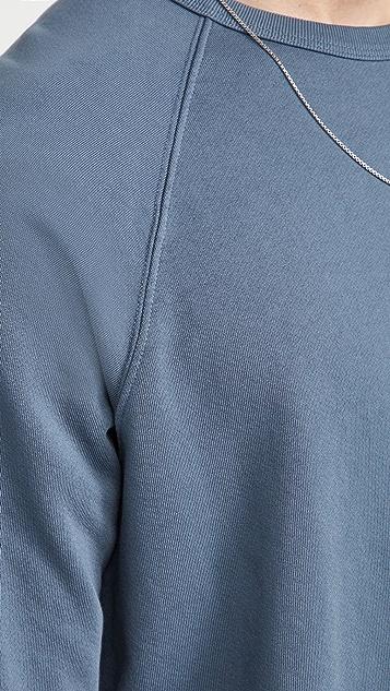 Vince Long Sleeve Garment Dye Crew Sweatshirt