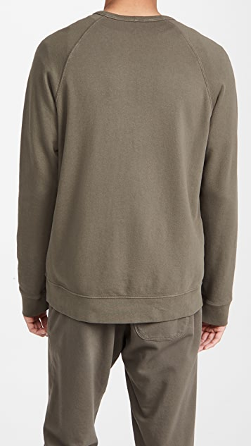 Vince Long Sleeve Garment Dye Crew Sweatshirt