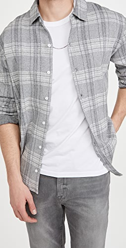 Vince - Slub Plaid Button Down Shirt