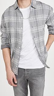 Vince Slub Plaid Button Down Shirt