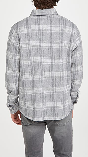 Vince Slub Plaid Button Down Shirt