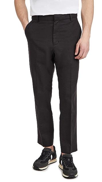 Vince Linen Blend Modern Trousers