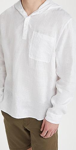 Vince - Linen Hooded Pullover