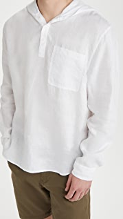 Vince Linen Hooded Pullover