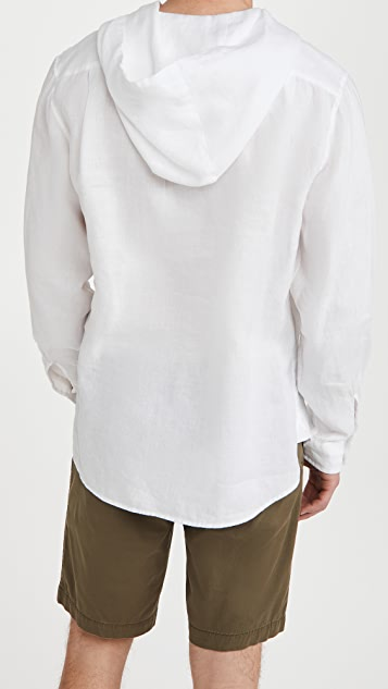 Vince Linen Hooded Pullover
