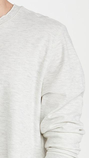 Vince Thermal Double Knit Crew Sweatshirt