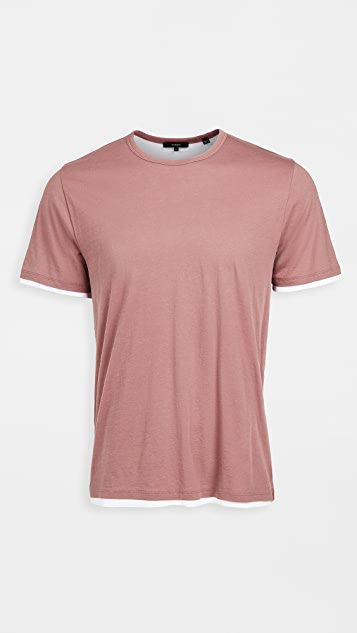 Vince Double Layer Crew T-Shirt