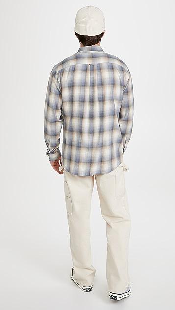 Vince Shadow Plaid Long Sleeve