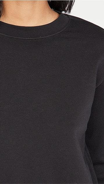 Vince Essential Shrunken Pullover Sweatshirt
