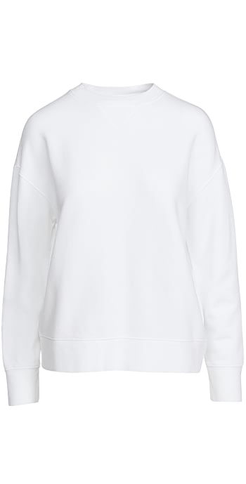 Vince Essential Relaxed Pullover - Optic White