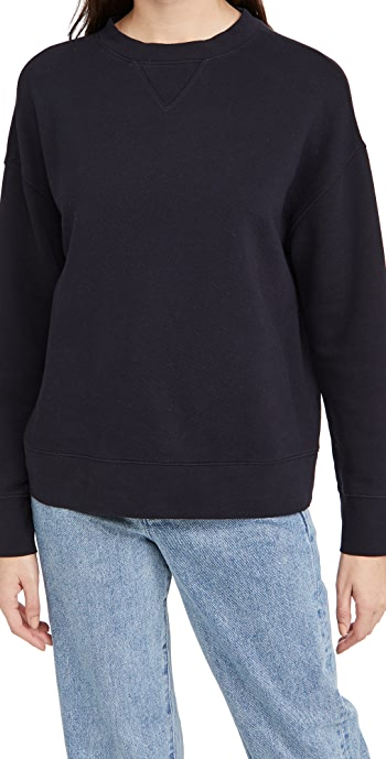 Vince Essential Relaxed Pullover - Coastal