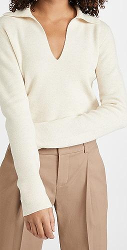 Vince - 合身马球衫毛衣