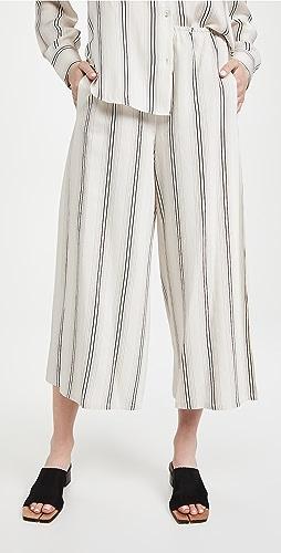 Vince - 垂褶条纹裙裤