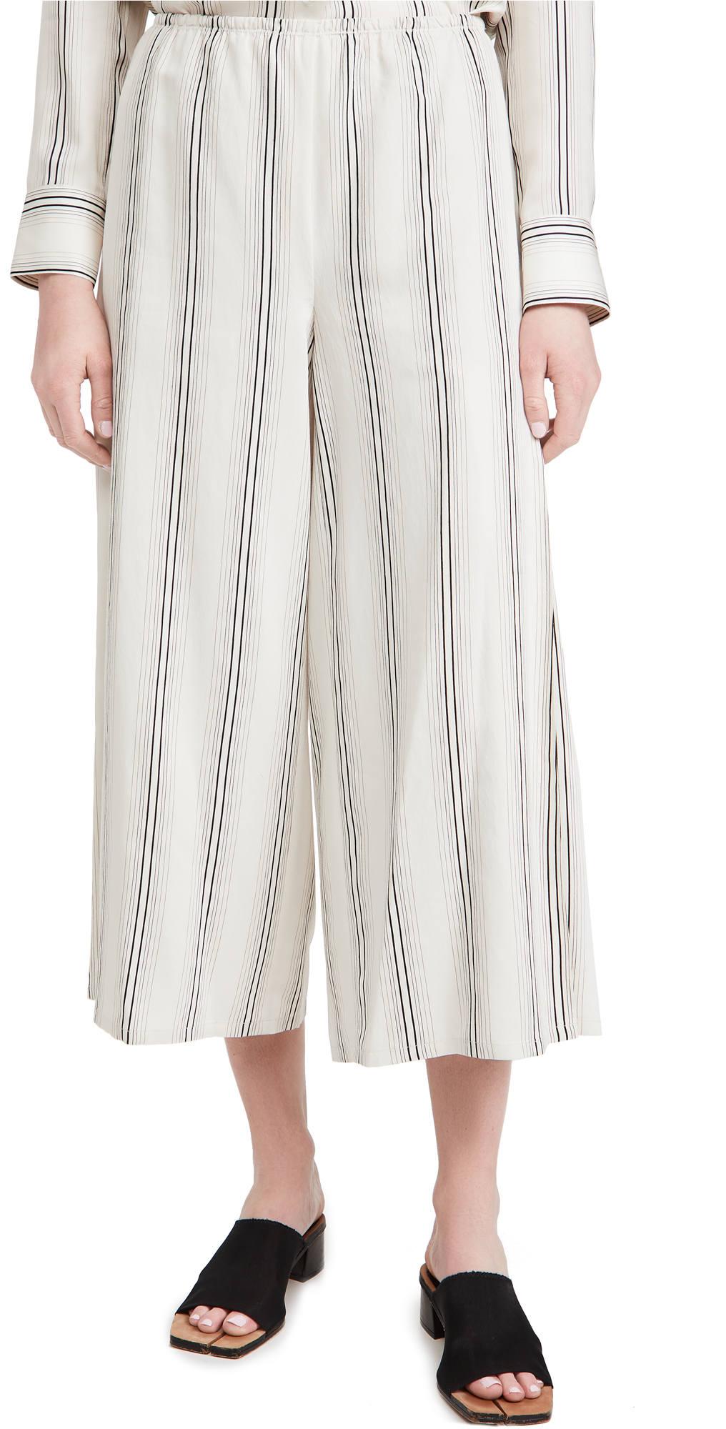 Vince Drapey Stripe Culottes