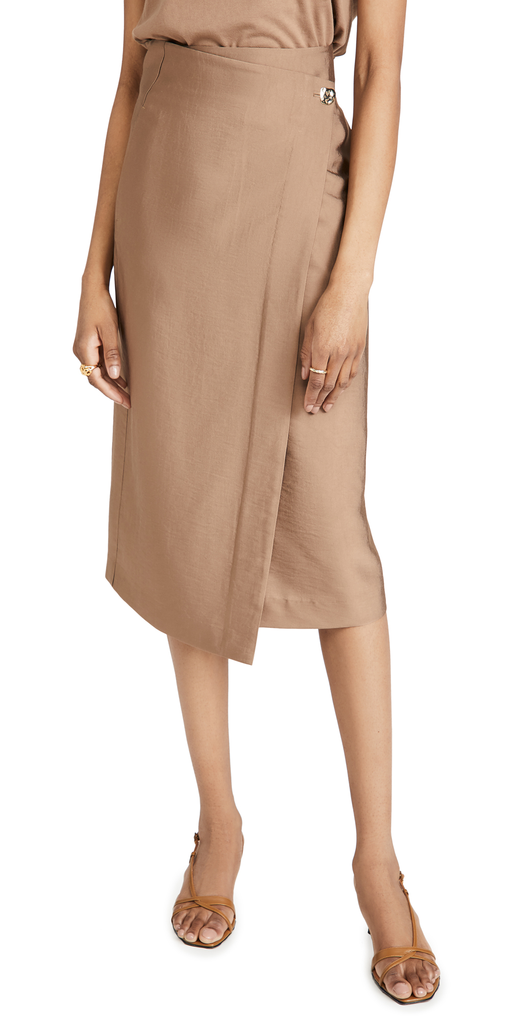 Vince Asymmetric Wrap Skirt