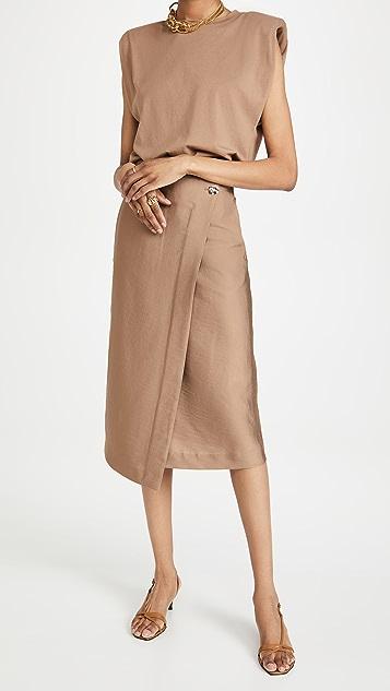 Vince Asymmetric Wrap Skirt