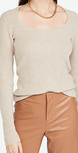 Vince - Cashmere Ribbed Square Neck Sweater
