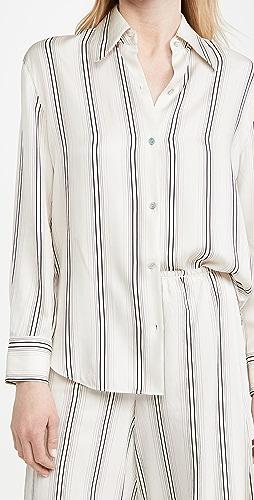 Vince - Fine Variegated Stripe Button Down Shirt
