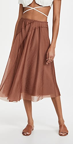Vince - Organza Asymmetric Paneled Skirt