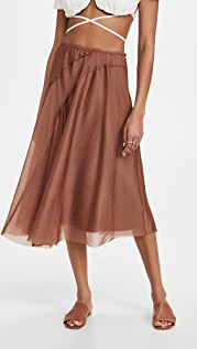 Vince Organza Asymmetric Paneled Skirt