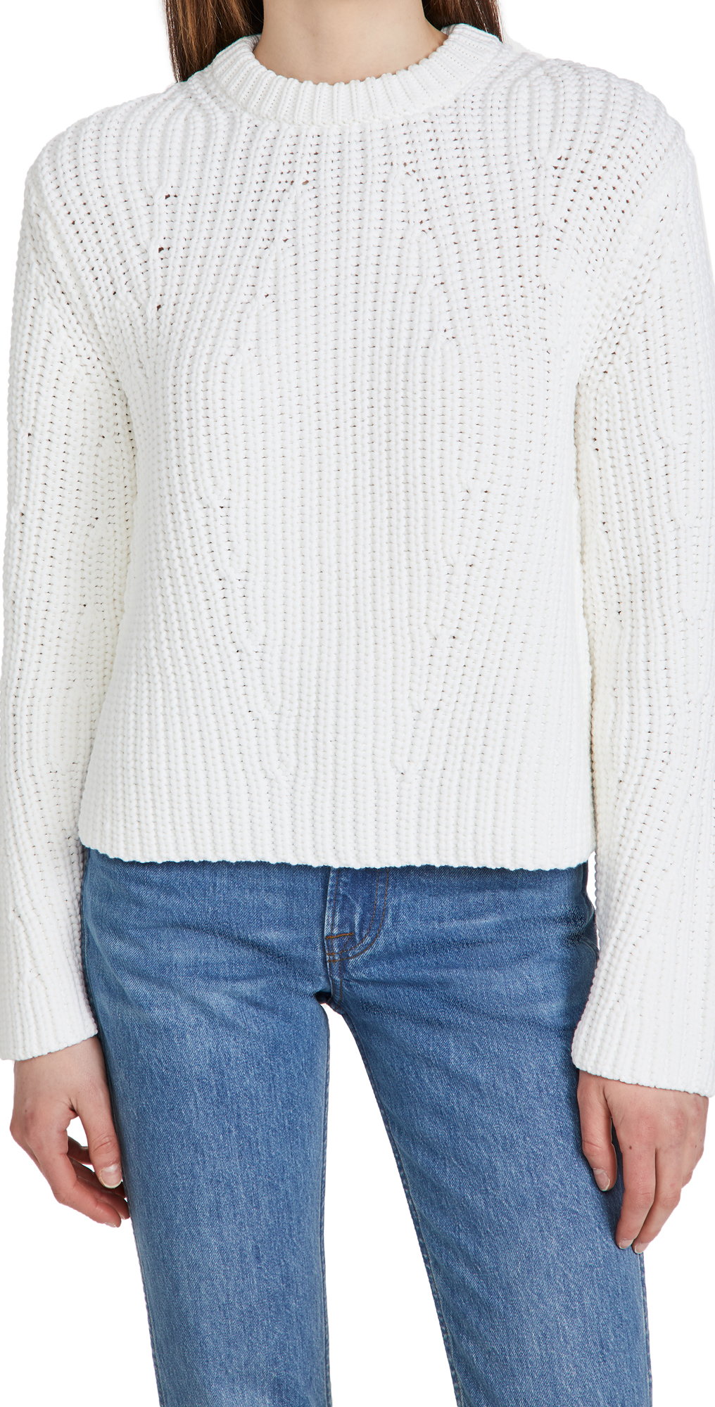 Vince Clothing MIRRORED RIB PULLOVER SWEATER