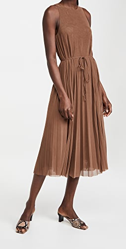 Vince - High Neck Pleated Dress