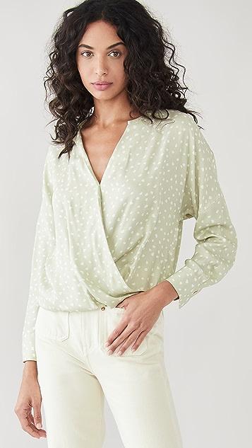 Vince Stone Dot 裹身款式女式衬衫