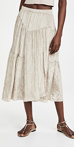 Vince - Tiered Asymmetric Skirt