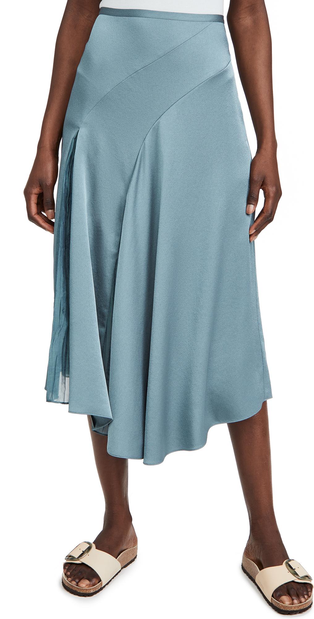 Vince Asymmetric Paneled Skirt